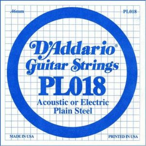 D`ADDARIO PL018 Single Plain Steel 018